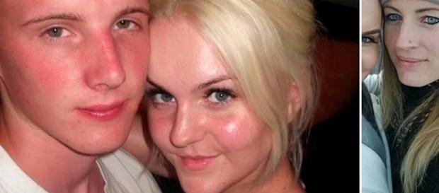 Nas imagens o rapaz que foi abandonado, e a jovem com a sua nova namorada.