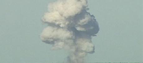 A bomba possui um raio de explosão de 300 metros
