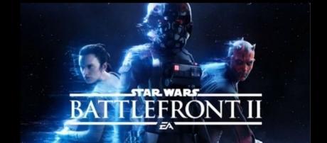"A screen shot from the ""Star Wars Battlefront 2"" teaser"