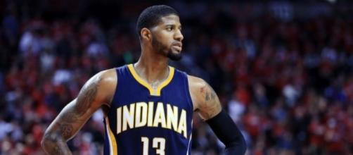 For Paul George and the Pacers it's win and they're in the playoffs. [Image via Blasting News image library/inquisitr.com]