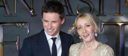 File Footage of J.K Rowling and Eddie Redmayne at Fantastic Beasts and Where To Find Them Premier.