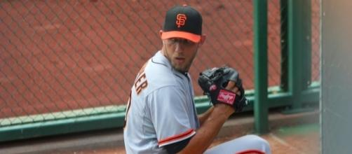 Madison Bumgarner suffered injuries in a dirt bike accident. Photo: wikimedia