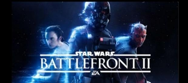 "A screen shot from the ""Star Wars Battlefront 2"" teaser"
