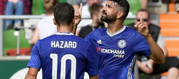 Eden Hazard & Diego Costa score in Chelsea's 4-2 win v Werder Bremen - 101greatgoals.com
