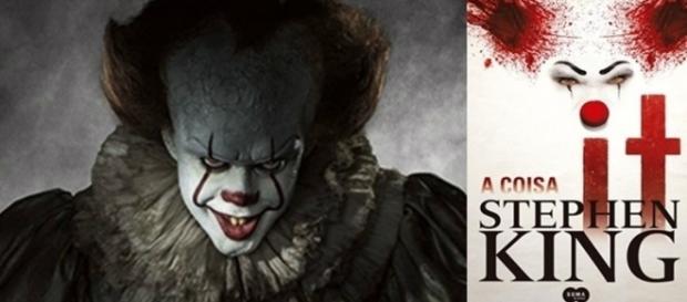 """O filme """"It – A Coisa"""" é baseado no livro de Stephen King, onde ele conta a horripilante história sobre um palhaço assassino chamado Pennywise"""