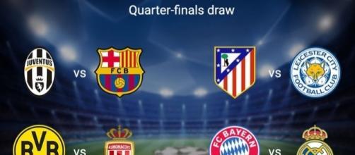 2016/2017 Champions League, i quarti di finale