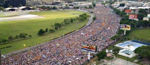 La marcha de la esperanza en Venezuela
