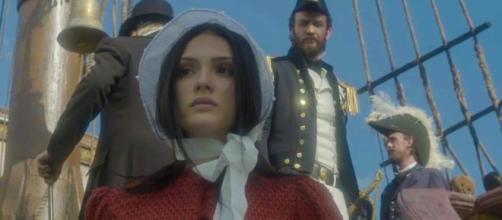 Isabelle Drummond como Anna em Novo Mundo