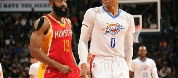 Harden vs Westbrook, el duelo estelar en la primera ronda de los playoffs.
