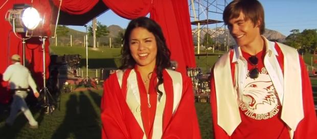 Vanessa Hudgens and Zac Efron - YouTube Screenshot