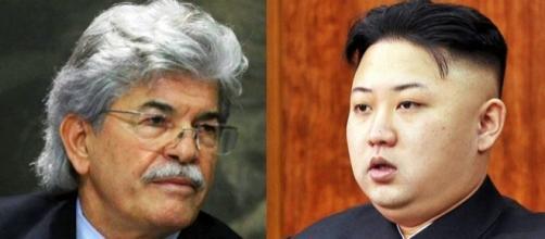 Antonio Razzi a destra ed il leader nord coreano a sinistra.