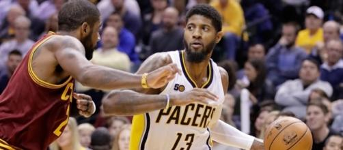 Indiana's Paul George earned Eastern Conference Player of the Month honors for April. [Image via Blasting News image library/inquisitr.com]