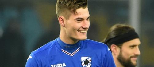 Patrik Schick sorride dopo il gol contro il Torino