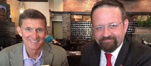 Sebastian Gorka seen with outsted National Security Advisor Gn. Michael Flynn / Photo by businessinsider.com via Blasting News library
