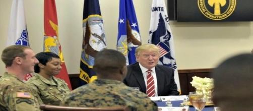 Trump and the military re: Google Advanced Images