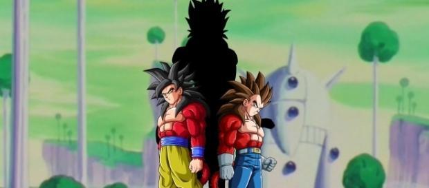imagen de Goku y vegeta antes de la fusión
