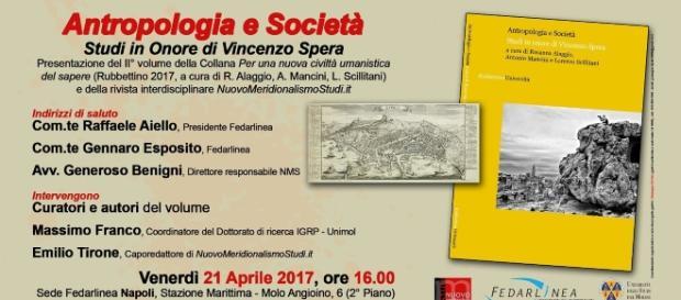 Invito alla presentazione del volume su antropologia e società