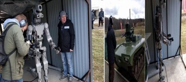 Na imagem o primeiro robô humanóide produzido pela Rússia.
