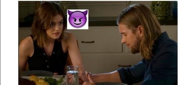 Pretty Little Liars: Aria s'apprête à trahir ses amies selon Lucy Hale