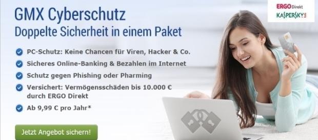 Werbung von GMX Cyberschutz / Foto: 1&1 Werbung