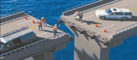 O erro de cálculo na construção de uma ponte
