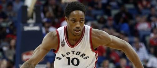 DeMar DeRozan and Toronto host Milwaukee in Game 1 of their NBA playoff series on Saturday. {Image via Blasting News image library/inquisitr.com]