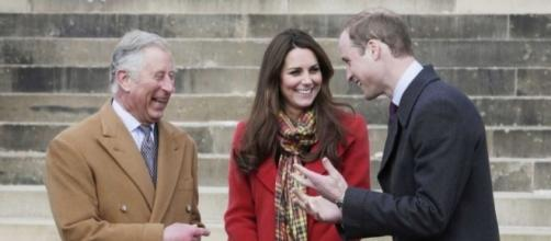 Prince William and Kate Middleton share a laugh with Prince Charles. Photo: Blasting News Library - Newsday - newsday.com
