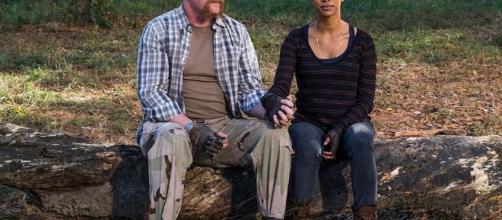 """Sasha em """"contato"""" com Abraham durante alucinação no 16º episódio da 7ª temporada de The Walking Dead"""