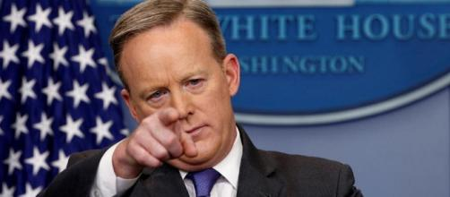 Sean Spicer says Donald Trump is not a flip-flopper [Image credit: @CBSNEWS/Twitter]