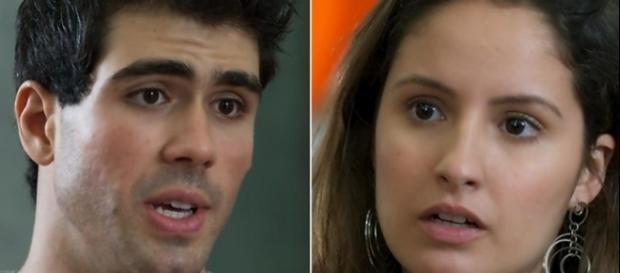 Imagem: Rômulo e Nanda na novela 'Malhação'