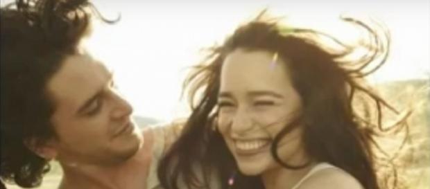 Kit Harington and Emilia Clarke - YouTube Screenshot
