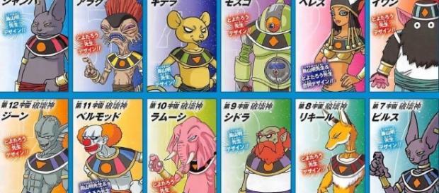 Los nombres oficiales de los 12 dioses de la destrucción.