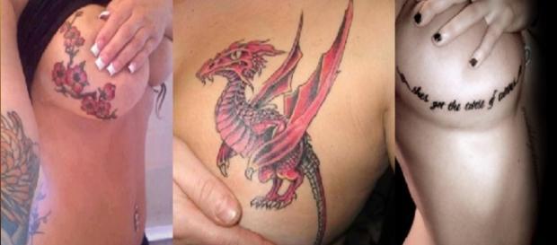 Vejas algumas tatuagens nos seios