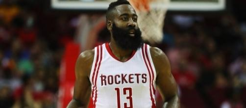 James Harden will lead the Houston Rockets into a playoffs battle on Sunday against OKC. [Image via Blasting News image library/inquisitr.com]