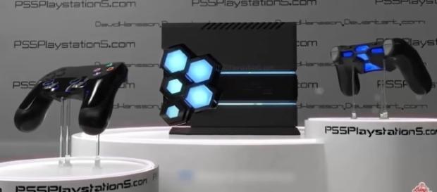A design concept of PlayStation 5. /Photo via Blog De JP, YouTube Screenshot