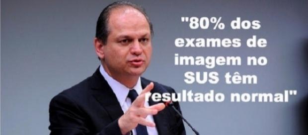 Ministro da Saúde diz que exames com resultado normal, são um desperdício (Foto: Reprodução)