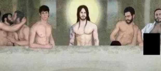 O quadro da versão gay da santa ceia gerou polêmica