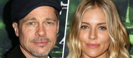 Is Sienna Miller upset that her name is being dragged to Brad Pitt and Angelina Jolie's divorce drama? (via Blasting News library)