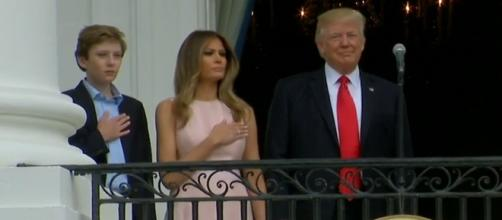 Melania Trump Reminds the President to Put His Hand Over His Heart? - snopes.com
