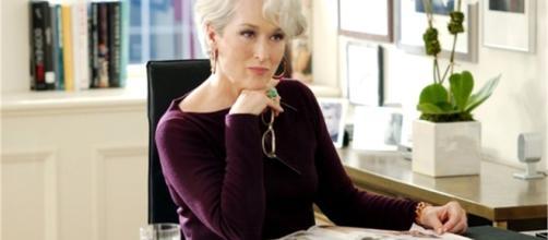 """Meryl Streep in una scena del film """"Il Diavolo veste Prada"""" (Fonte: Donna Fanpage)"""