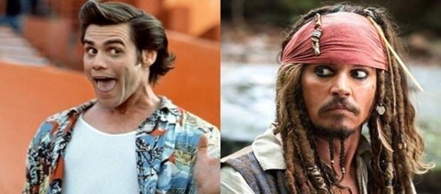 A primeira opção para interpretar o ao pirata Jack Sparrow, foi Jim Carrey.