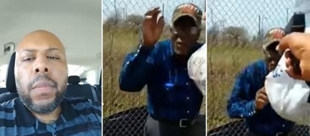 Na imagem o homem que matou o idoso, minutos antes e o crime acontecer.