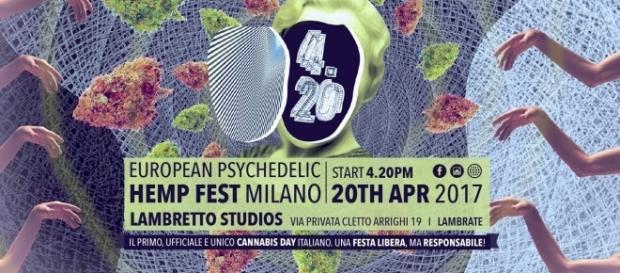 La locandina della 4.20 Hemp Fest di Milano