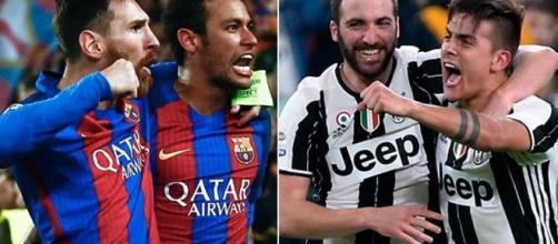 Juve-Barcellona, una sfida ad armi pari