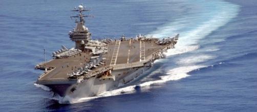 La portaerei 'Carl Vinson' della marina militare degli Stati Uniti d'America