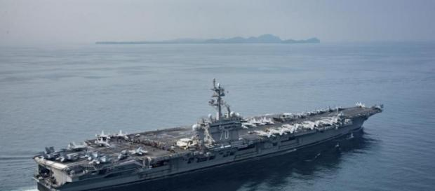 Remember that carrier strike force steaming toward Korea? It wasn ... - bostonglobe.com