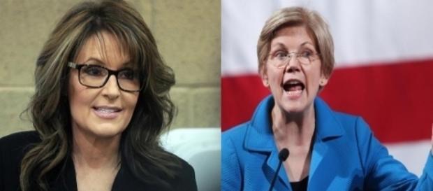 Sarah Palin, Elizabeth Warren, via Twitter