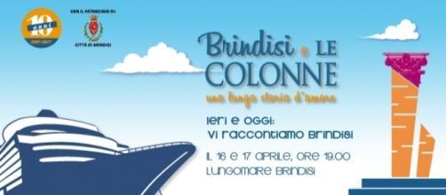 Grafica del programma di eventi de Le Colonne di Brindisi