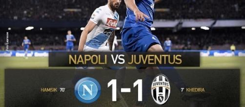 Highlights Napoli-Juventus 1-1: Khedira-Hamsik, Dybala giura amore eterno