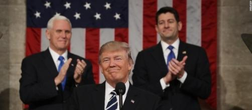 President Trump during his first address to Congress / Photo by cnn.com via Blasting News library